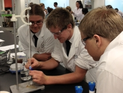 Chemistry students experiment at USQ
