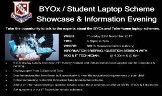 BYOx Student Laptop Scheme Information Evening